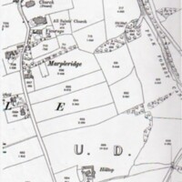 1898 OS Map showing All Saints Church Location