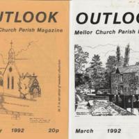Outlook Magazine Covers.  Mellor Parish Newspaper