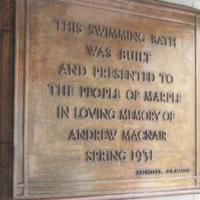 Foundation Plaque at Marple Swimming Bath : 1931