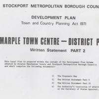Marple Town Centre Plan : Part II : 1971