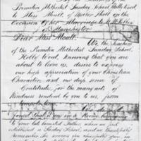 Address to Miss Moult on the Occasion of her Wedding : 1881