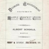 Dramatic Entertainment/Concert Programmes : 1881/2