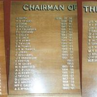 'Chairman of the Council'  Wooden Plaque in Marple Library