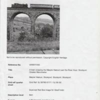 Material on Marple Viaduct : From various sources