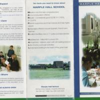 Leaflet for Marple Hall School : 2005