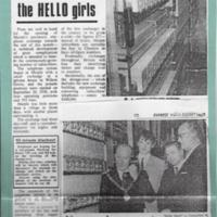 Exchange Goes Automatic : Newspaper cutting : 1967