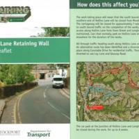 Leaflet : Work to Hollins Lane Retaining Wall : 2012