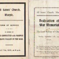 Forms of Service : All Saints : 1915 & 1948