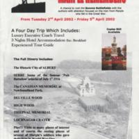 Poster : Marple Remembers : Trip to Somme Battlefields : 2002