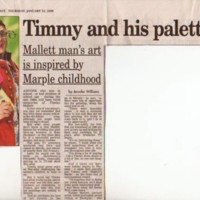 Newspaper Cuttings & Magazine Articles relating to Artist from the Marple Area