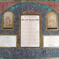 Plaque to the Remembrance & Memory of William & Mary Hyde