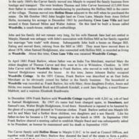 """Brief History of Woodville Estate Marple "" : Peter Bardsley : 1996"