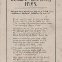 """Poem """"Our Old Church & Churchyard"""" and Scholars Anniversary Hymn"""