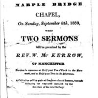 Poster for Service at Marple Bridge Chapel : 1883