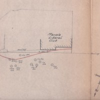Plans showing filled in Spur of canal & Correspondence : Boundary Dispute : 1970's