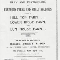 Advertising Flyers /Catalogues for Property Auctions : 1884 - 1939