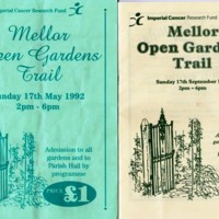 Mellor Open Gardens Trail Programmes 1992, 1995