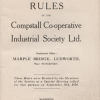 Rule book of the Compstall Co-operative Industrial Society : 1920