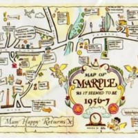 """Novelty  """"Map of Marple as it Seemed to be in 1956/7"""""""