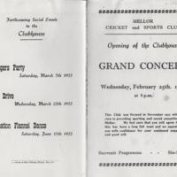 Mellor Cricket & Sports Club : Grand Concert : 1953