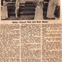 Newspaper articles : Mellor Church : Various Dates