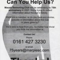Marple Swimming Club Flyers