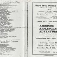 Programme : Marple Bridge Dramatic Society : 1925