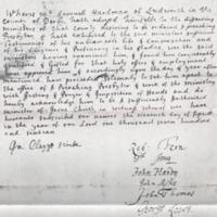 Document re Samuell Hardman of Ludworth 1716