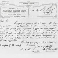 Handwritten accounts/correspondence re disposal of Primitive Methodist Chapel