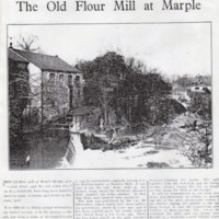 Newspaper Article : The Old Flour Mill at Marple : Undated