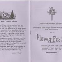 Programme for St Paul's Flower Festival : 2000
