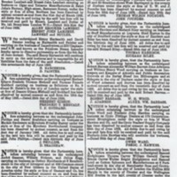 London Gazette Notices : 1895 and 1898