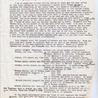 Pooley/Lingard Family Tree correspondence 1985