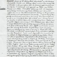 William Carver Last Will & Testament :  1889