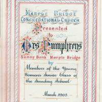 Testimonial and other papers to Mr & Mrs Humphreys 1905 and 1918