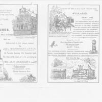 Collection of Programmes for lectures/entertainments 1887-1906