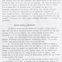 Information on Font, Pulpit and  Mellor Vicars