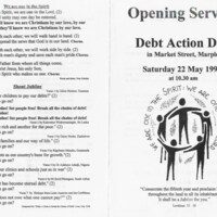 Debt Action Day 22nd May 1999