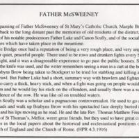Newspaper Cuttings relating to St Mary's &  Holy Spirit Church :  from 1916