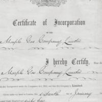 Certificate of Incorporation : 1855