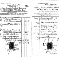 Two Invoices from R Wood dated 1898 & 1900