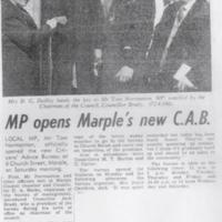 Newspaper Cutting : Marple's New C.A.B. : 1974