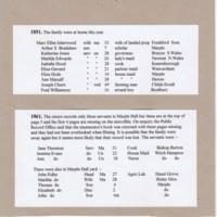 Census Records for Marple Hall : 1841 - 1881