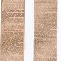 Extracts from The Reporter re Water Supply : 1926 & 1933