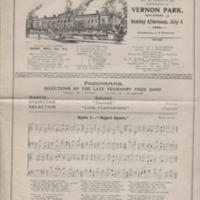 Programme for Vernon Park Musical Festival 1920
