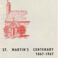 Booklets : Celebration 1870 - 1970, Contact 1867 -1967, St Martins Centenary 1867 - 1967