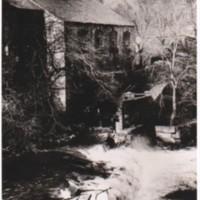 Photograph : Corn Mill, Marple Bridge with weir broken : date unknown