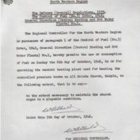 Fuel Restriction Permit : 1946