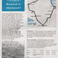 Leaflet Promoting Canal Restoration
