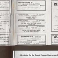 Local Businesses advertising in Regent Cinema Programme